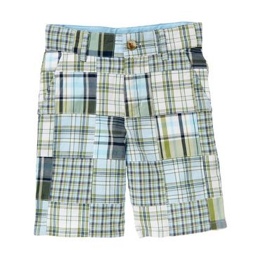 Grasshopper Green Patchwork Plaid Patchwork Short at JanieandJack