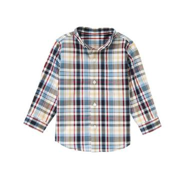 Collegiate Blue Plaid Plaid Shirt at JanieandJack