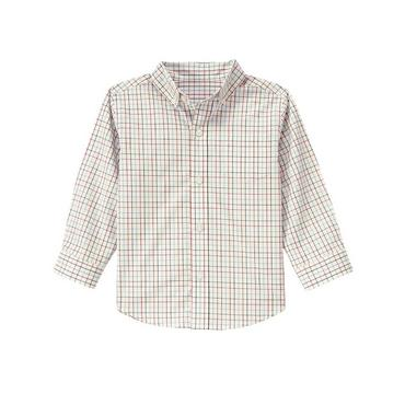 Ivory Check Tattersall Shirt at JanieandJack