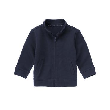 Classic Navy Zippered Cardigan at JanieandJack