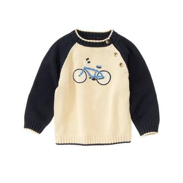 Antique Ivory Bicycle Sweater at JanieandJack