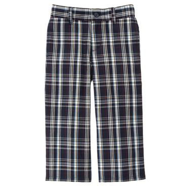 Classic Navy Plaid Plaid Pant at JanieandJack