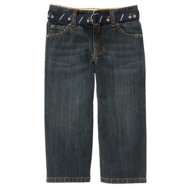 Dark Indigo Wash Bicycle Belted Denim Jean at JanieandJack