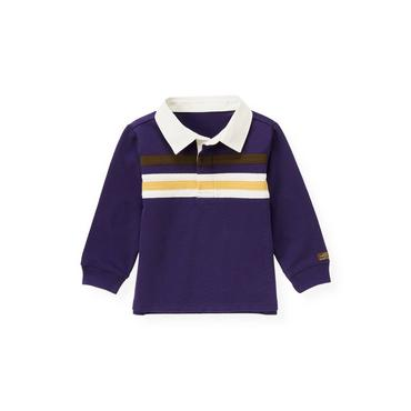 Dark Purple Stripe Rugby Shirt at JanieandJack