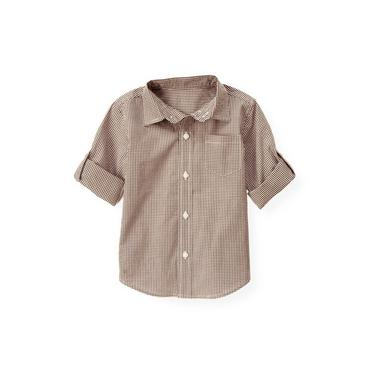 Coffee Check Gingham Shirt at JanieandJack