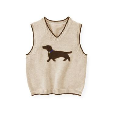 Sand Heather Dog Sweater Vest at JanieandJack