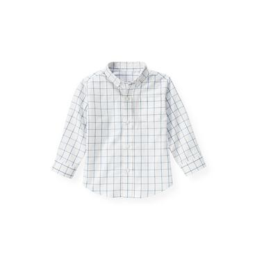 Blue Windowpane Windowpane Check Dress Shirt at JanieandJack
