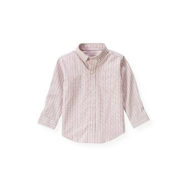 Ruby Pink Stripe Dobby Stripe Dress Shirt at JanieandJack