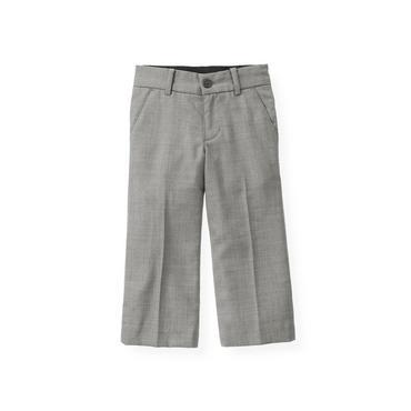 Classic Grey Herringbone Suit Trouser at JanieandJack