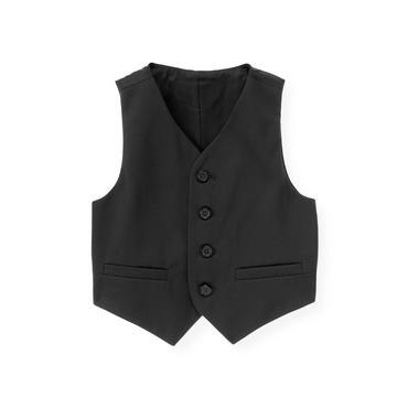 Dark Navy Wool Suit Vest at JanieandJack