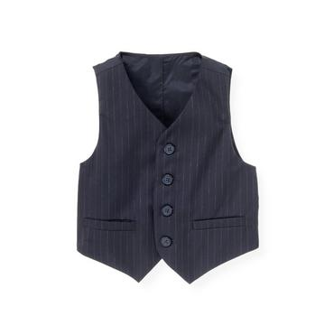 Classic Navy Pinstripe Pinstripe Suit Vest at JanieandJack