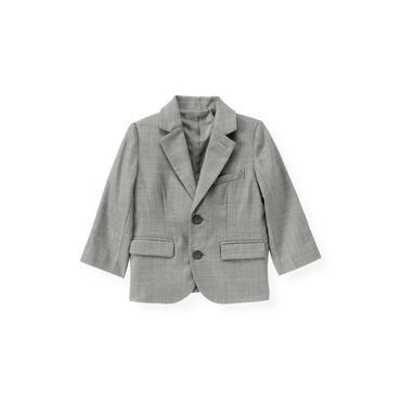 Classic Grey Herringbone Suit Blazer at JanieandJack
