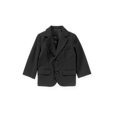 Dark Navy Wool Suit Blazer at JanieandJack