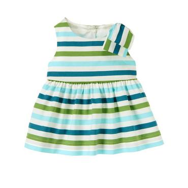 Songbird Blue Stripe Bow Stripe Top at JanieandJack