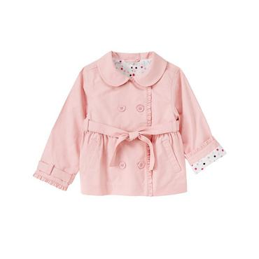 Parisian Pink Ruffle Trench Coat at JanieandJack