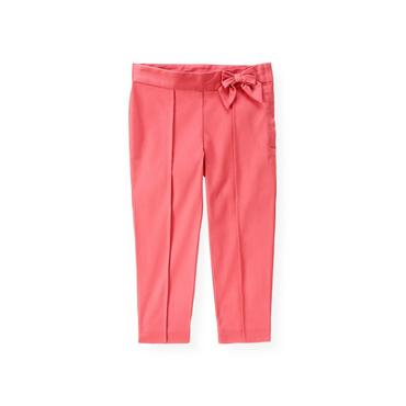 Rose Pink Bow Sateen Pant at JanieandJack