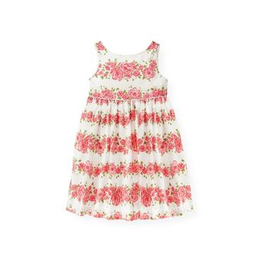 Rose Garland Rose Blossom Sateen Dress at JanieandJack