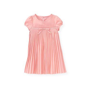 Classic Pink Ribbon Pleated Dress at JanieandJack