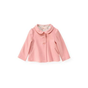 Classic Pink Felted Swing Coat at JanieandJack