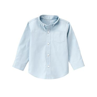 Oxford Blue Herringbone Dress Shirt at JanieandJack