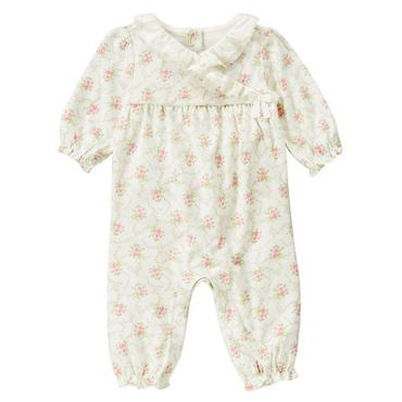 Baby Girl Rose Floral Rose Blossom Lace Collar One-Piece at JanieandJack