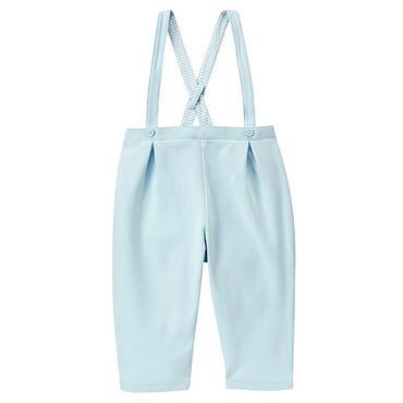 Baby Boy Hippo Blue Suspender Pant at JanieandJack