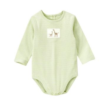 Baby Girl Soft Green Stripe Giraffe Stripe Bodysuit at JanieandJack