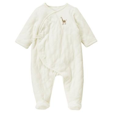 Baby Girl Jet Ivory Giraffe Quilted Velour One-Piece at JanieandJack