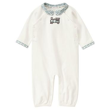Jet Ivory Train Collar One-Piece at JanieandJack