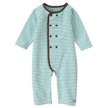 Train Blue Stripe Stripe Button One-Piece at JanieandJack