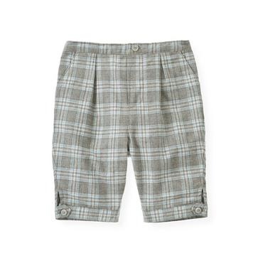 Baby Boy Soft Blue Plaid Plaid Twill Knicker at JanieandJack