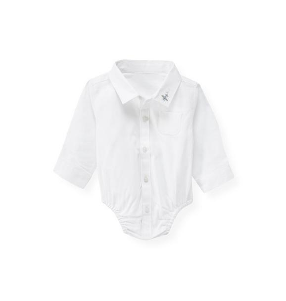 Plane Dress Shirt Bodysuit