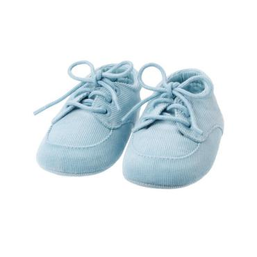 Baby Boy Hippo Blue Hippo Corduroy Crib Shoe at JanieandJack