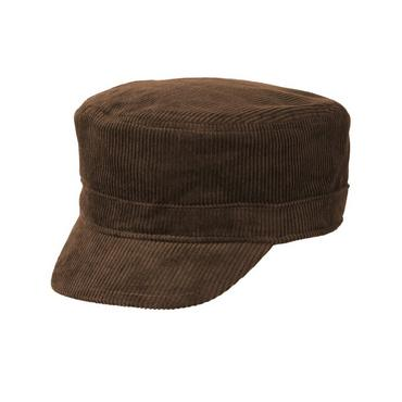 Boys Dark Brown Corduroy Hat at JanieandJack