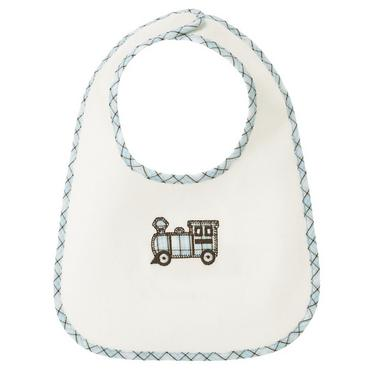 Jet Ivory Train Bib at JanieandJack