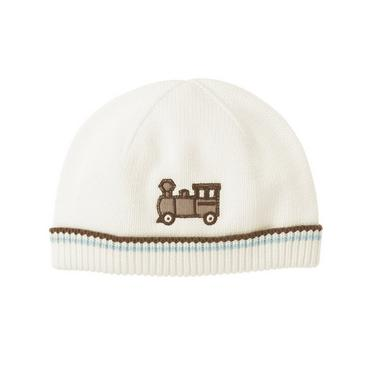 Jet Ivory Train Sweater Beanie at JanieandJack