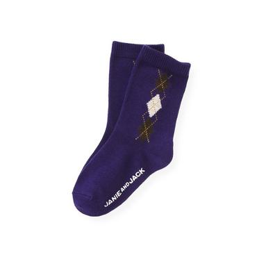 Boys Dark Purple Argyle Sock at JanieandJack