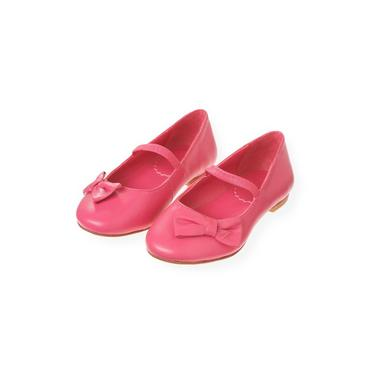 Rose Pink Bow Leather Shoe at JanieandJack