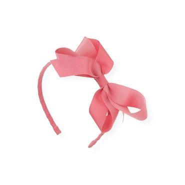 Rose Pink Grosgrain Ribbon Bow Headband at JanieandJack