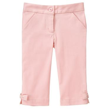 Parisian Pink Bow Sateen Crop Pant at JanieandJack
