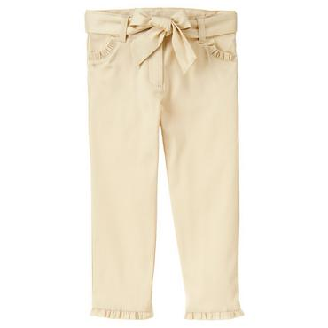 Classic Khaki Ruffle Belted Khaki Pant at JanieandJack