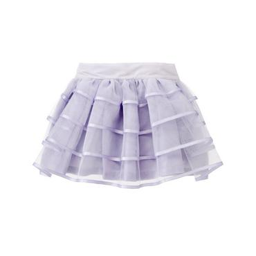 Lavender Satin Ribbon Tulle Skirt at JanieandJack