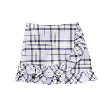 Lavender Plaid Ruffle Plaid Skirt at JanieandJack