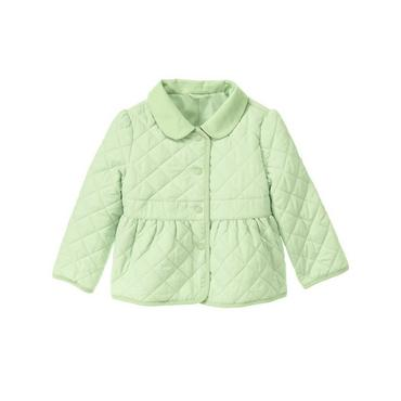 Mint Green Quilted Taffeta Jacket at JanieandJack