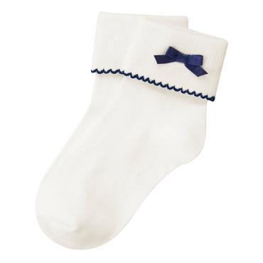 Jet Ivory Bow Sock at JanieandJack