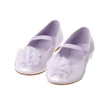Lavender Tulle Rosette Patent Shoe at JanieandJack