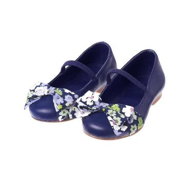 Deep Violet Floral Bow Shoe at JanieandJack