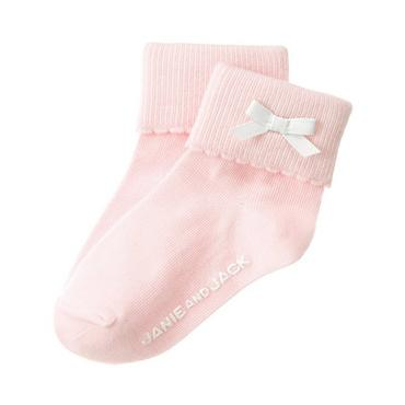 Pink Bow Scalloped Sock at JanieandJack