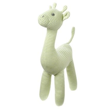 Soft Green Stripe Stripe Giraffe Rattle at JanieandJack
