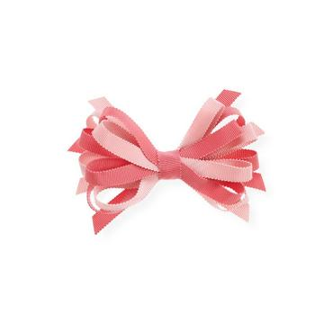 Rose Pink Grosgrain Ribbon Loop Barrette at JanieandJack